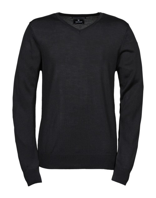 Tee Jays Men's V Neck Knitted Sweater