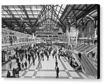 Hustle and Bustle - Liverpool Street Station - Photograph on Canvas