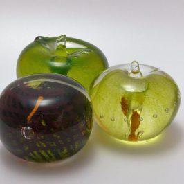 Apple & Burgundy Paperweights
