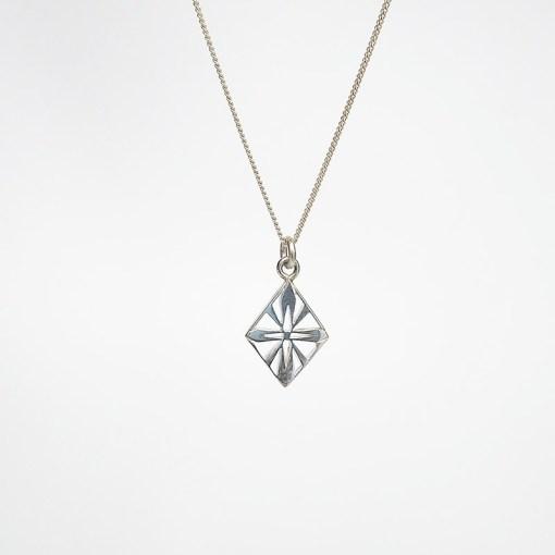 Handmade Art Deco Diamond Sterling Silver Necklace