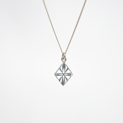 Handmade Art Deco Diamond Sterling Silver Necklace