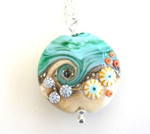 Sand & Sea large lentil pendant