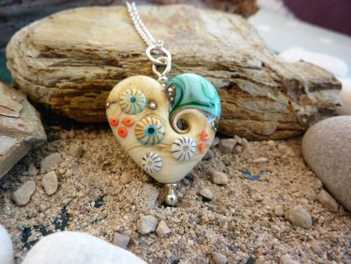 Sand & Sea heart pendant