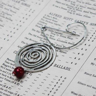 Handmade Art Nouveau Rose Brooch