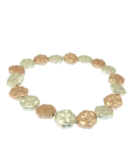 Silver & Rose Gold plated Bracelet