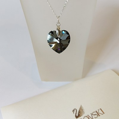 Swarovski & Sterling Silver Necklace