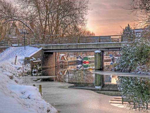 Narrow Boats Under The Bridge