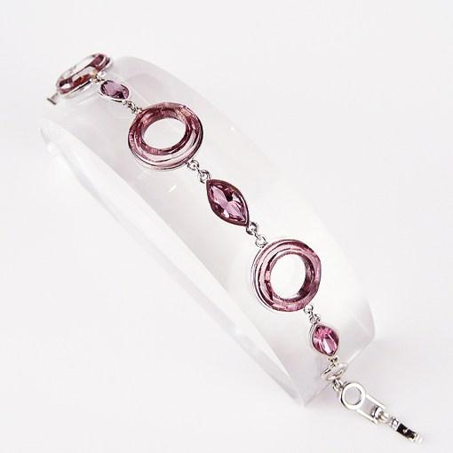 Pink Swarovski & Sterling silver Bracelet
