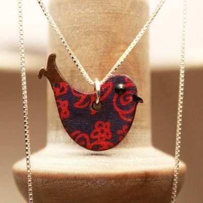 Handmade Bird Necklace