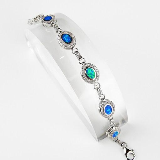 Opal & Sterling Silver Bracelet