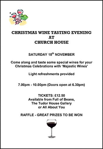 Wine Tasting Eve - Church House