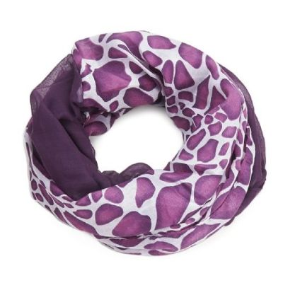 Double animal print purple Snood