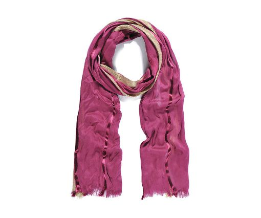 Wine soft long scarf