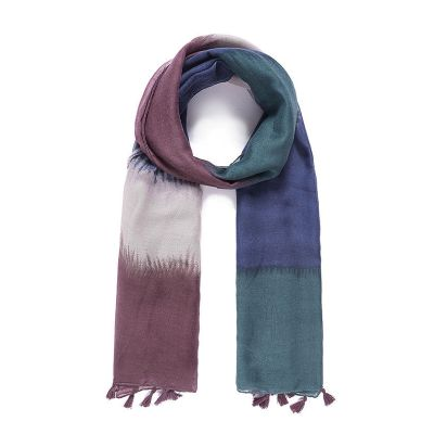 Multi coloured colour block scarf