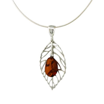Autumn Leaves Amber Necklace