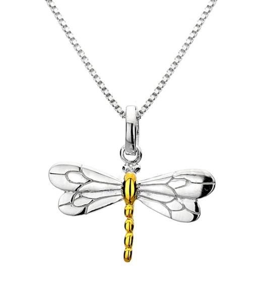 Dragonfly drop pendant
