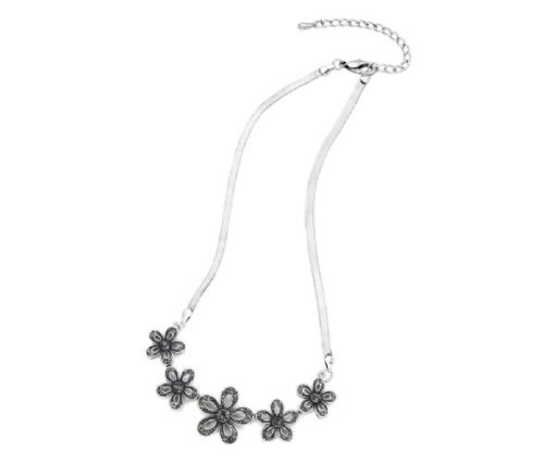 Diamanté Flower necklace