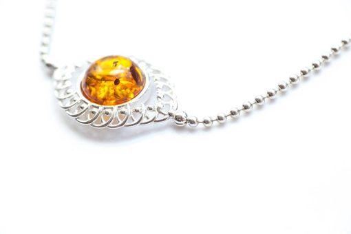 Baltic Amber & Sterling Silver Bracelet