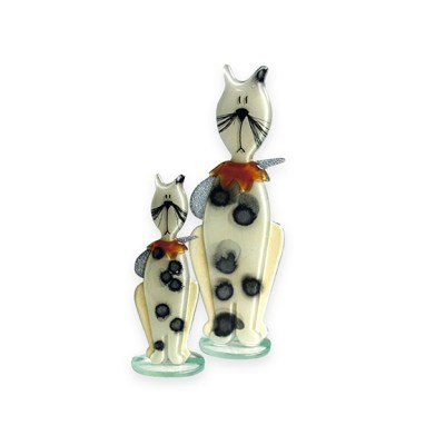 Handmade Fused Glass Kitten Honey