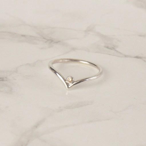 Wishbone Swarovski Ring
