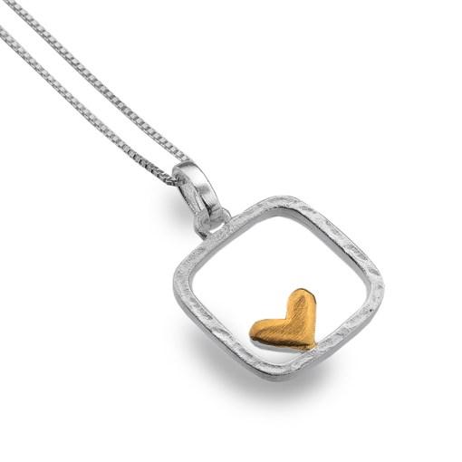 Framed Heart Pendant