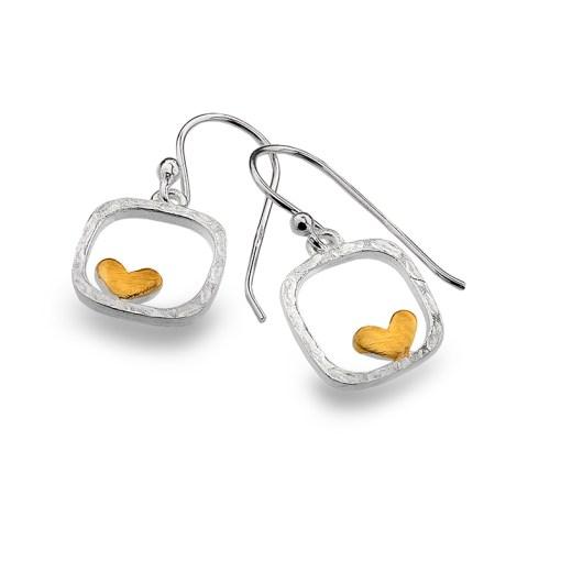 Framed Heart Earrings