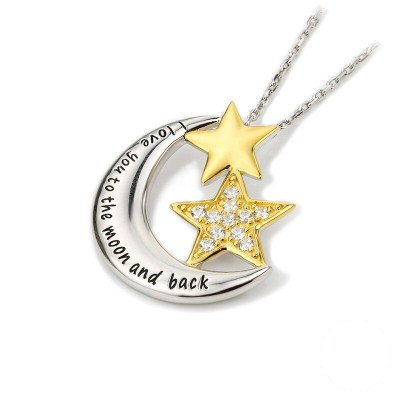 Silver 'Love you to the moon and back' Necklace