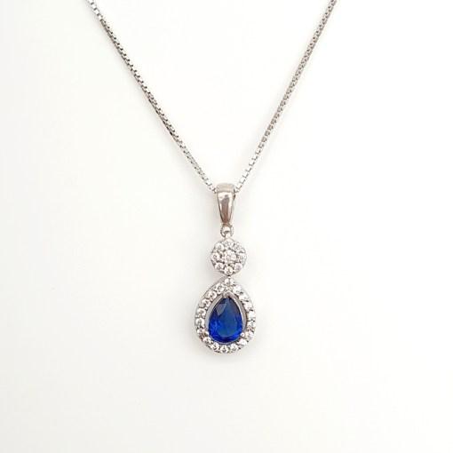 Blue Cubic Zirconia necklace