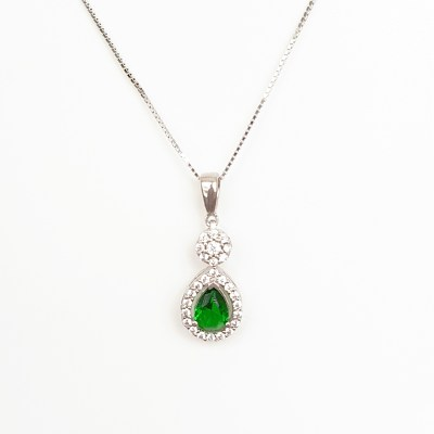Green Cubic Zirconia necklace