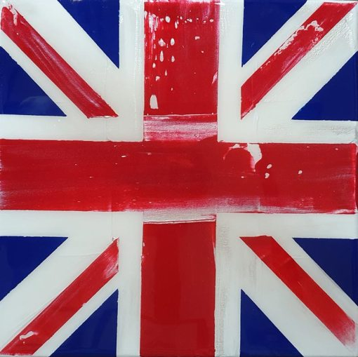Acrylic & Resin Union Jack on Canvas