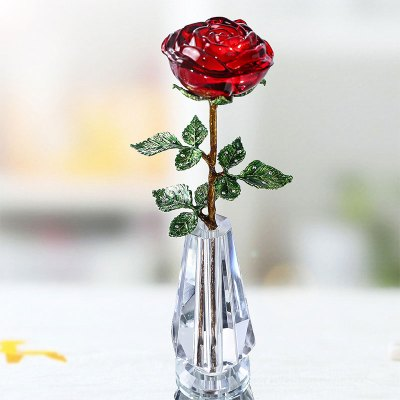 Red Glass Rose