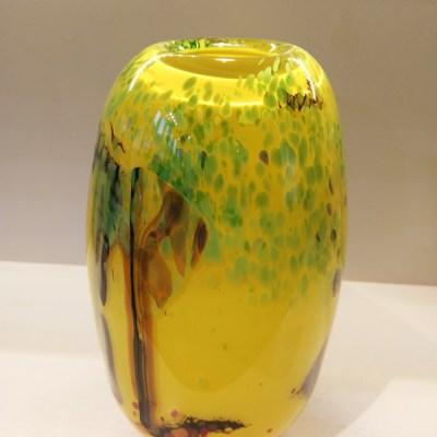 Long Yellow Glass Vase