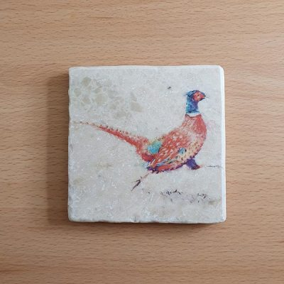 Marble Coaster - Running Pheasant