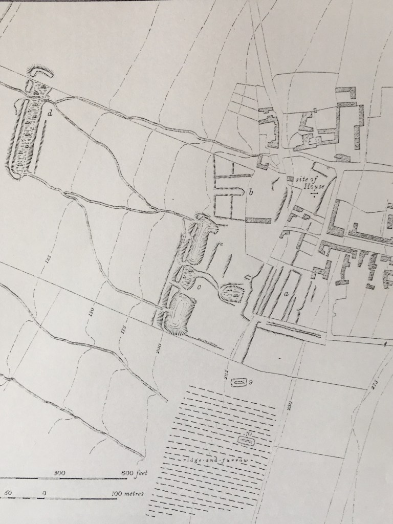 Ground plan of the site of Collyweston palace