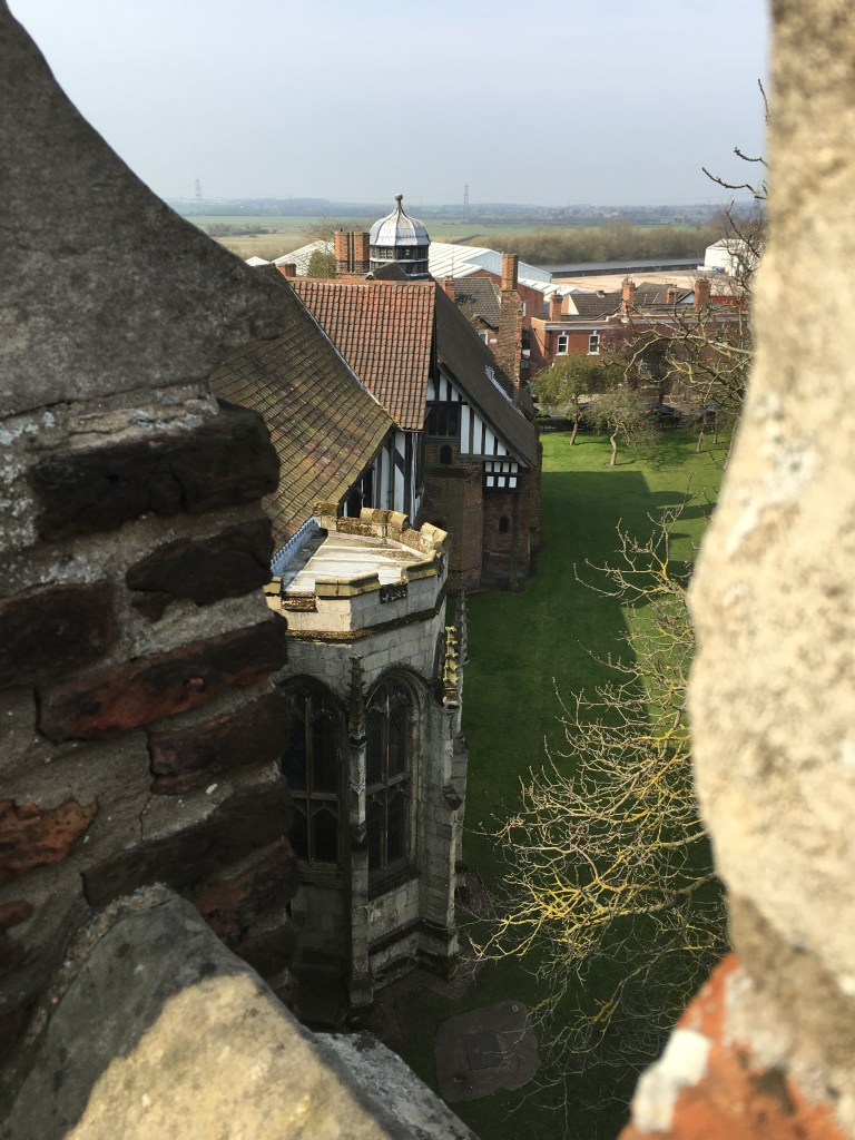 View from the rooftop of the tower at Gainsborough Old Hall