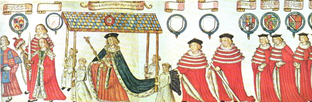 The coronation procession of Henry VIII.