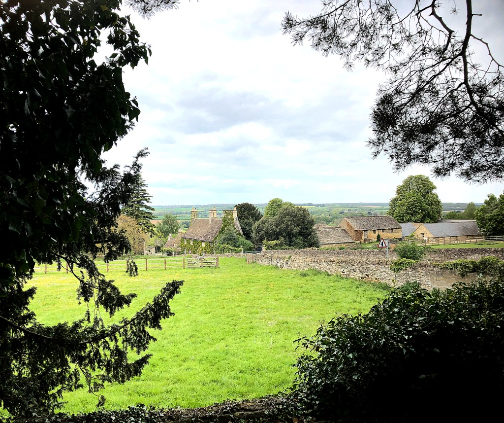 View across the Welland Valley from the site of the old palace at Collyweston.