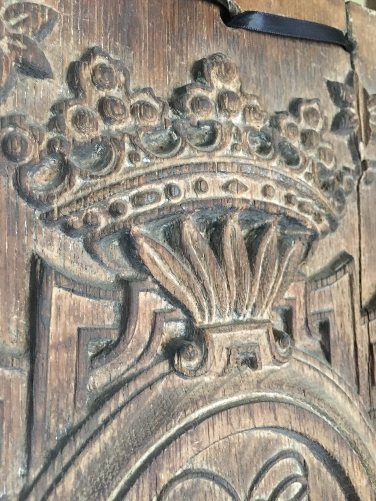 The Anne of Cleves' Panels: detail of the ducal coronet