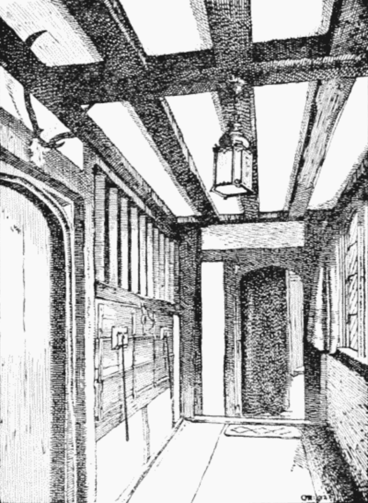 The serving hatch of the buttery at Ockwells
