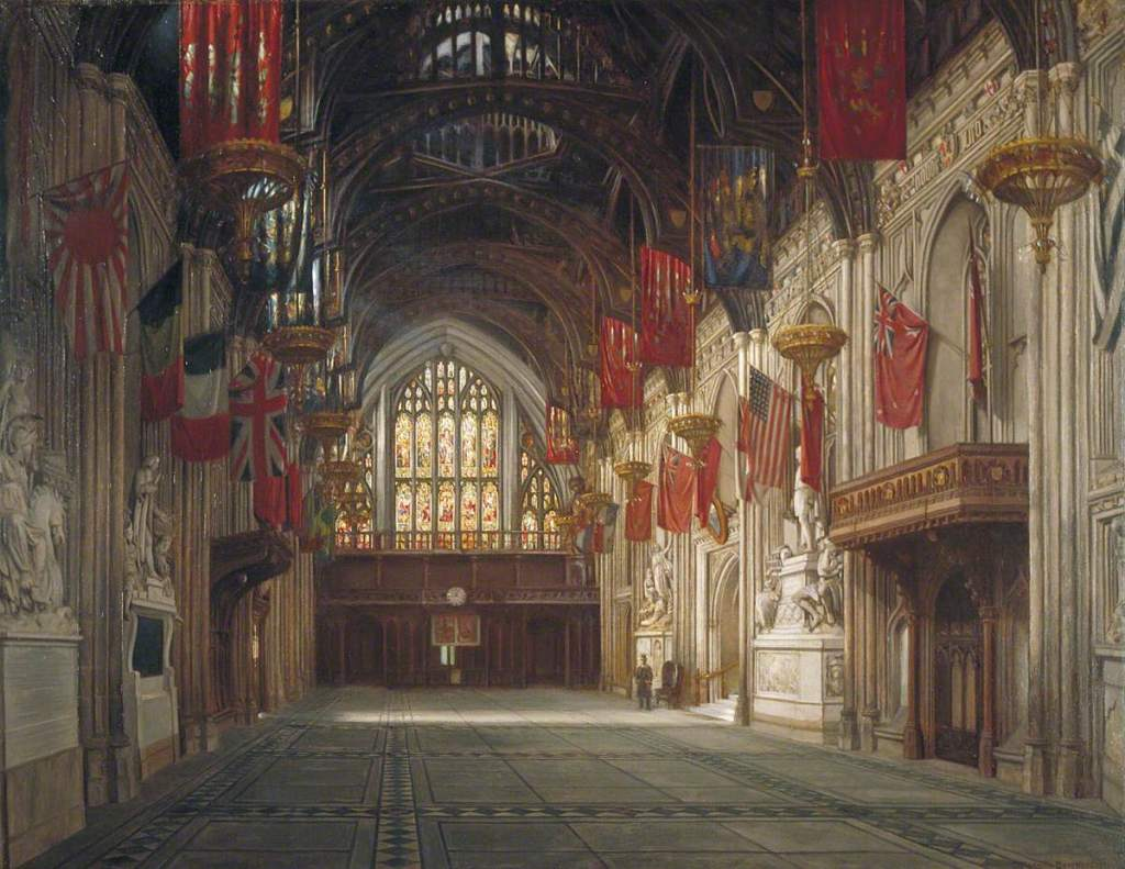 The interior of the Guildhall in London