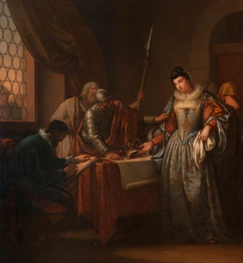 Mary Queen of Scots is forced to abdicate