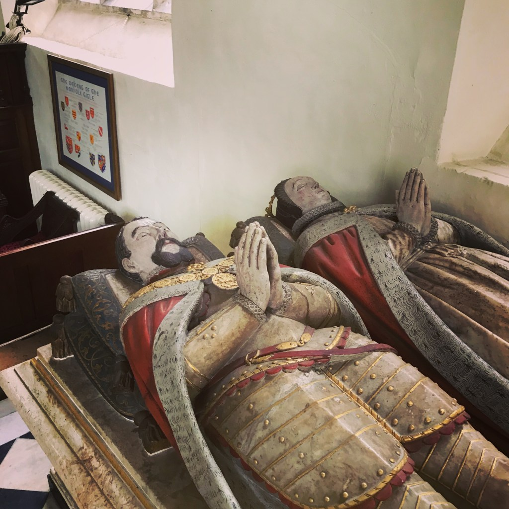 The tomb  and effigies of Henry Howard and his wife, Frances de Vere