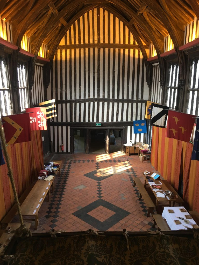 The interior of the Great Hall at Gainsborough old Hall