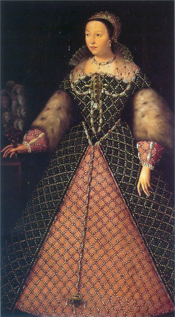 Catherine De Medici, depicted as Queen Consort of France in the 1550s