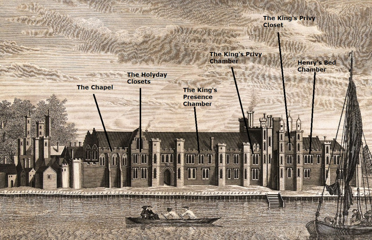 Greenwich Palace riverfront - annotated