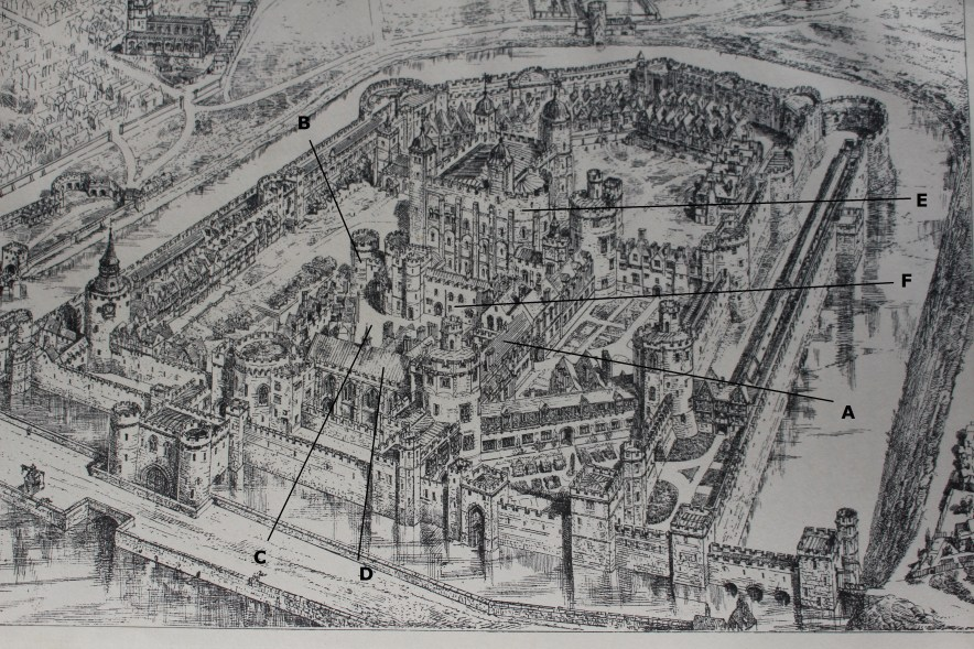 The Royal Apartments at the Tower - annotated image