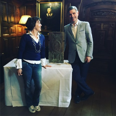 At the launch of the Bonham's panel at Hever Castle