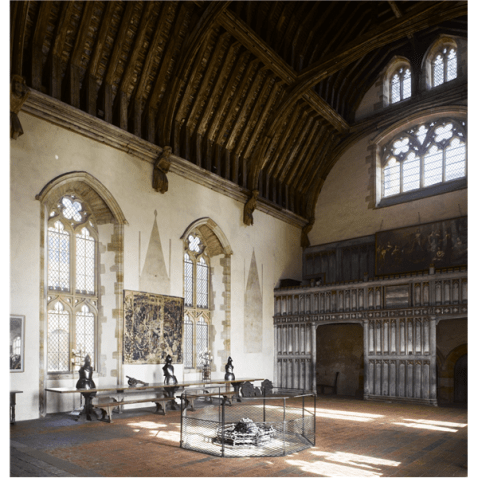 Penshurst Place's Great Hall typical of a Tudor Palace