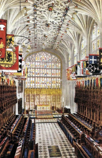 St George's Chapel at Windsor Castle, and the tomb of Henry VIII
