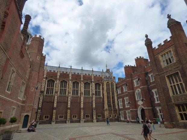 Hampton court clock court view